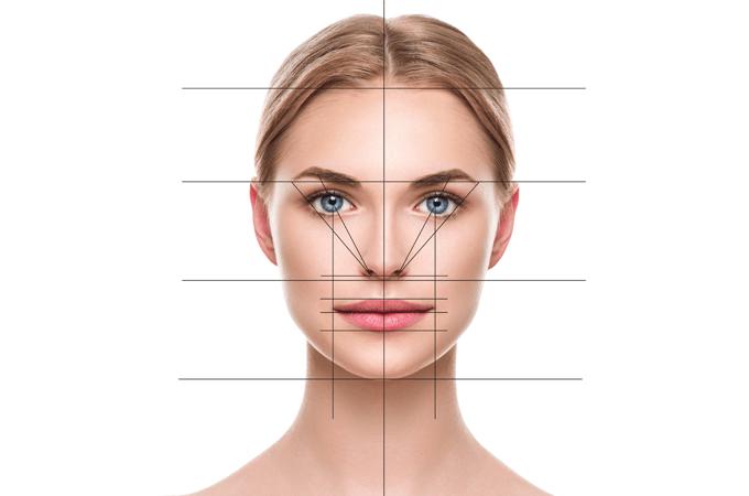 visage symétrique